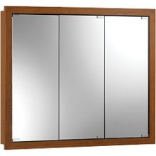 "30""W x 26""H - Honey Oak Wood Cabinet"