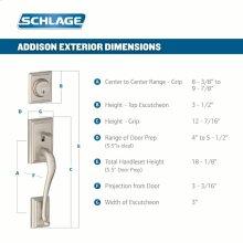 Addison Single Cylinder Handleset and Avanti Lever - Bright Brass