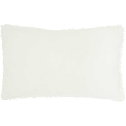 "Faux Fur Fl200 Ivory 14"" X 24"" Lumbar Pillows"