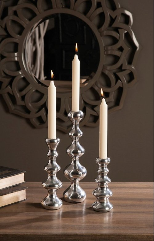 Chesire Aluminum Taper Candleholders - Set of 3