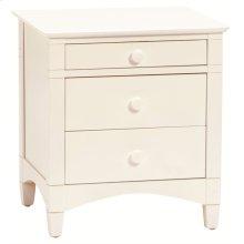 Essex 3 Drawer nightstand white