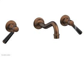 HENRI Wall Tub Set - Marble Lever Handles 161-58 - Antique Copper
