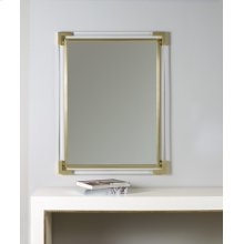 Brass Mirror With Plexi, Solid Brass Accents.
