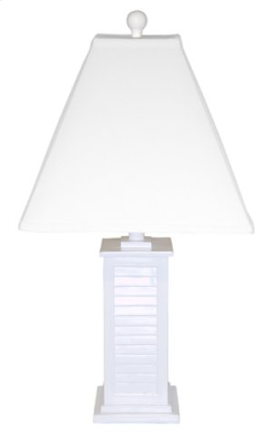 PR150-WH Shutter Table Lamp