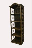 """24"""" Bookcase W/Iron Stars Medio Finish Product Image"""