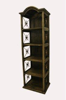 """24"""" Bookcase W/Iron Stars Medio Finish"""