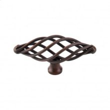 Oval Medium Twist Knob 3 Inch - Patina Rouge