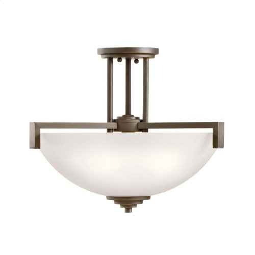 Eileen Collection Eileen 3 light Pendant/Semi Flush CH