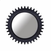 Epicenters Williamsburg Round Mirror - Black