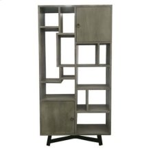 Bengal Manor Grey Acacia Wood 2 Door Offset Large Etagere