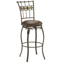 Lakeview Slate Back Swivel Barstool