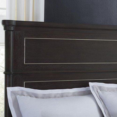 King/Anchor Grey Martinique Panel Bed