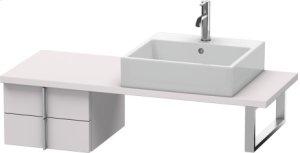 Vero Low Cabinet For Console Compact, White Lilac Satin Matt Lacquer
