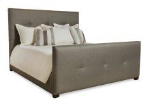Queen-Sized Derrick Tufted Bed (High) in Espresso