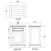 Small Shutter Nightstand Cabinet