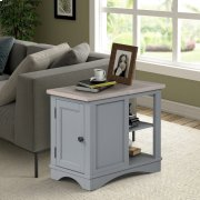 Americana Modern Dove Chairside Table Product Image