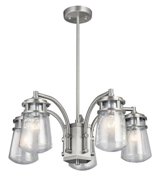 Lyndon 5 Light Chandelier Brushed Aluminum