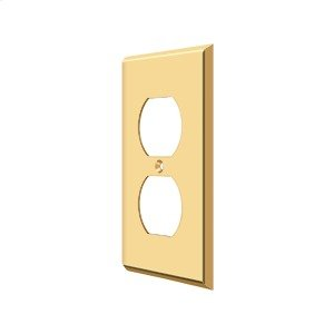 Switch Plate, Double Outlet - PVD Polished Brass