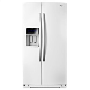 36-inch Wide Side-by-Side Counter Depth Refrigerator with StoreRight Dual Cooling System - 20 cu. ft. - WHITE