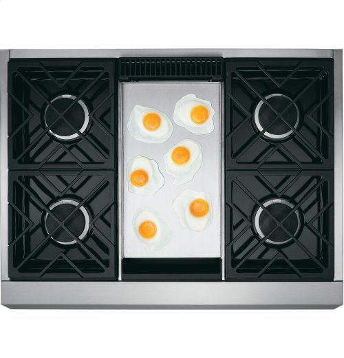 """Monogram 36"""" Dual-Fuel Professional Range with 4 Burners and Griddle (Natural Gas)"""