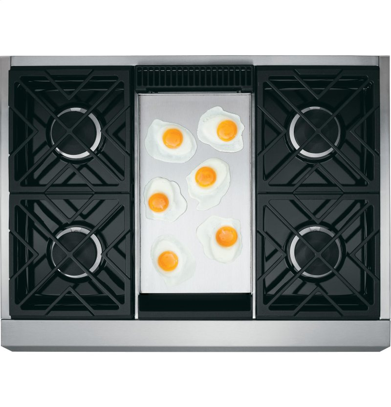 Monogram 36 Professional Gas Rangetop With 4 Burners And Griddle Natural