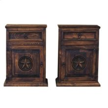 """Left : 22"""" x 16"""" x 30"""" Medio Mansion with Star Nightstands"""