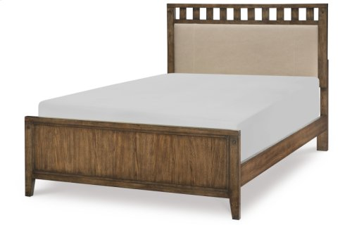 Sawyers Mill Complete Upholstered Slat Bed, Full 4/6