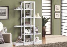 "BOOKCASE - 71""H / WHITE OPEN CONCEPT DISPLAY ETAGERE"