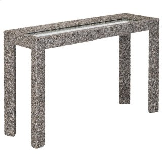 Batad Shell Console Table - 32.25h x 52.75w x 16.75d