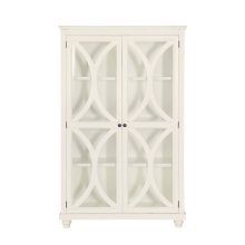 3 Shelf Bookcase Display Cabinet in White (Component 1 of 2)