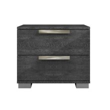 The Hampton Gray Birch Lacquer Nightstand / End Table