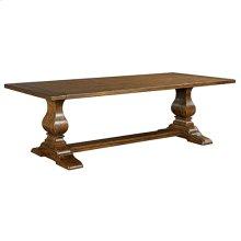 Artisans Shoppe 94IN Rectangular Dining Table W/ Wood Base - Tobacco