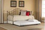 Amy Daybed With Frame and Roll Out Trundle - Full - Old Brushed Pewter