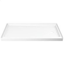 "White ProCrylic 60"" x 32"" Shower Base Right Drain"