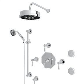 Polished Chrome Deco U.KIT58LS Thermostatic Shower Package with Deco Metal Lever