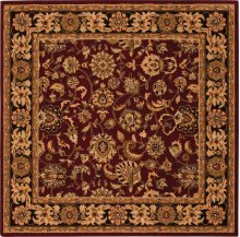 Hard To Find Sizes Grand Parterre Pt01 Red Square Rug 6' X 6'