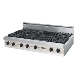"Oyster Gray 48"" Open Burner Rangetop - VGRT (48"" wide, six burners 12"" wide char-grill)"