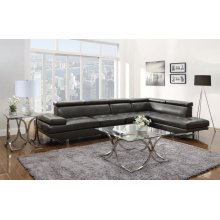 Piper Contemporary Charcoal Sectional
