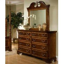 Eight Drawer Dresser and Broken Pediment Mirror
