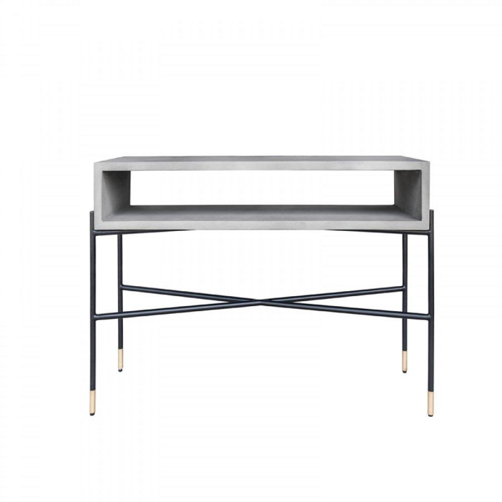 Modrest Walker Modern Concrete & Metal Console Table