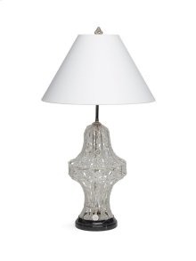 Antique Gold Crystal Pendant Table Lamp with Marble Base