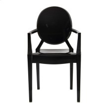 Isolde Baroque Chair-Black