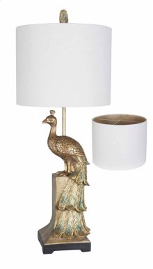 Fancy Peacock Table Lamp
