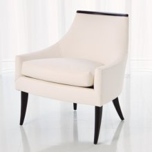 Boomerang Chair-White Leather
