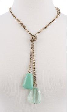 BTQ Drop Stone Necklace - Blue
