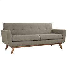 Engage Upholstered Fabric Loveseat in Granite