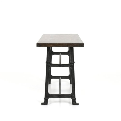 Counter Size English Brown Oak Finish Alistair Bar + Counter Table