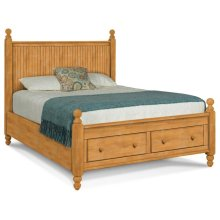 Queen Cottage Storage Bed - Headboard, Footboard, Drawers and Storage Bed Rails