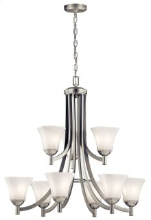 Serina 9 Light Chandelier Brushed Nickel