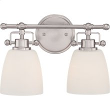 Bower Vanity Light in Brushed Nickel